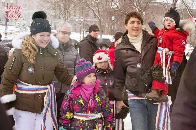 Премьер-министр Канады Джастин Трюдо и зимний комбинезон Deux par Deux