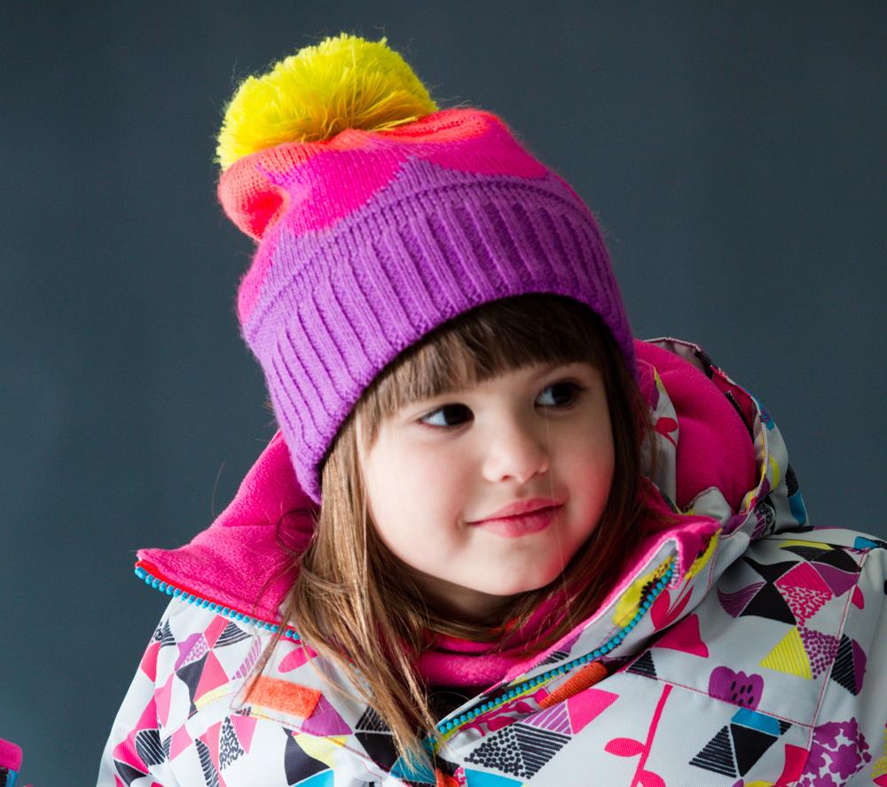 Зимняя шапка для девочки Deux Par Deux *Modern Confetti* Шапка детская. ZB02 W17 005