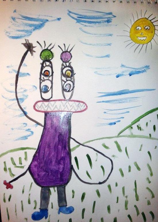 Конкурс детских рисунков «Монстрики 2014» в интернет магазине детской одежды Kidslove.me | Вожакова Олеся 8 лет