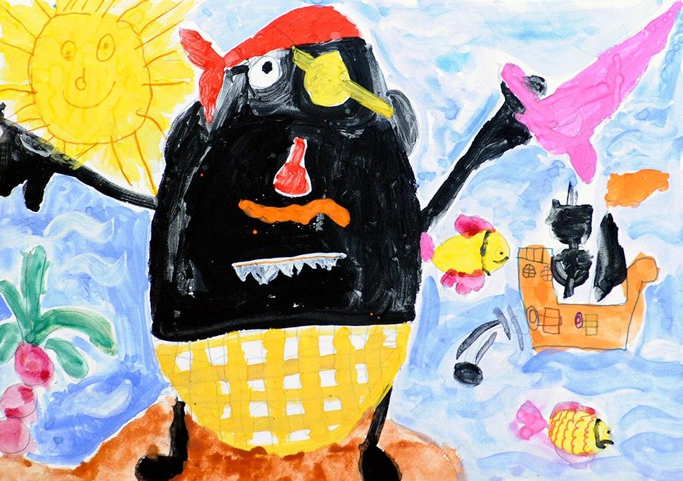 Конкурс детских рисунков «Монстрики 2014» в интернет магазине детской одежды Kidslove.me | Дима 6 лет
