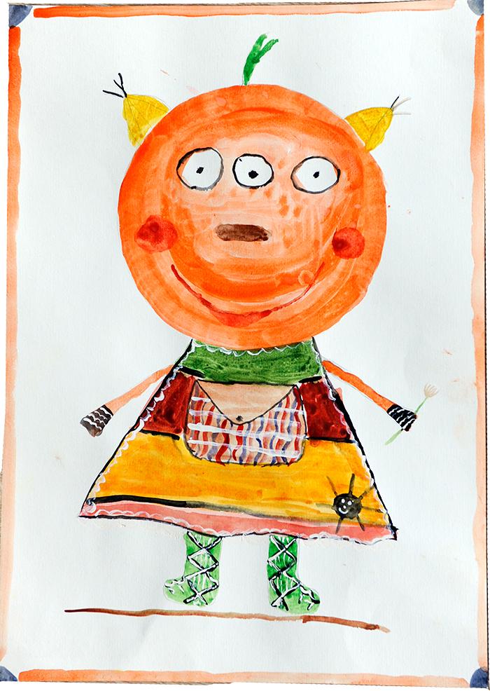 Конкурс детских рисунков «Монстрики 2014» в интернет магазине детской одежды Kidslove.me | рисунок Маши, 9 лет
