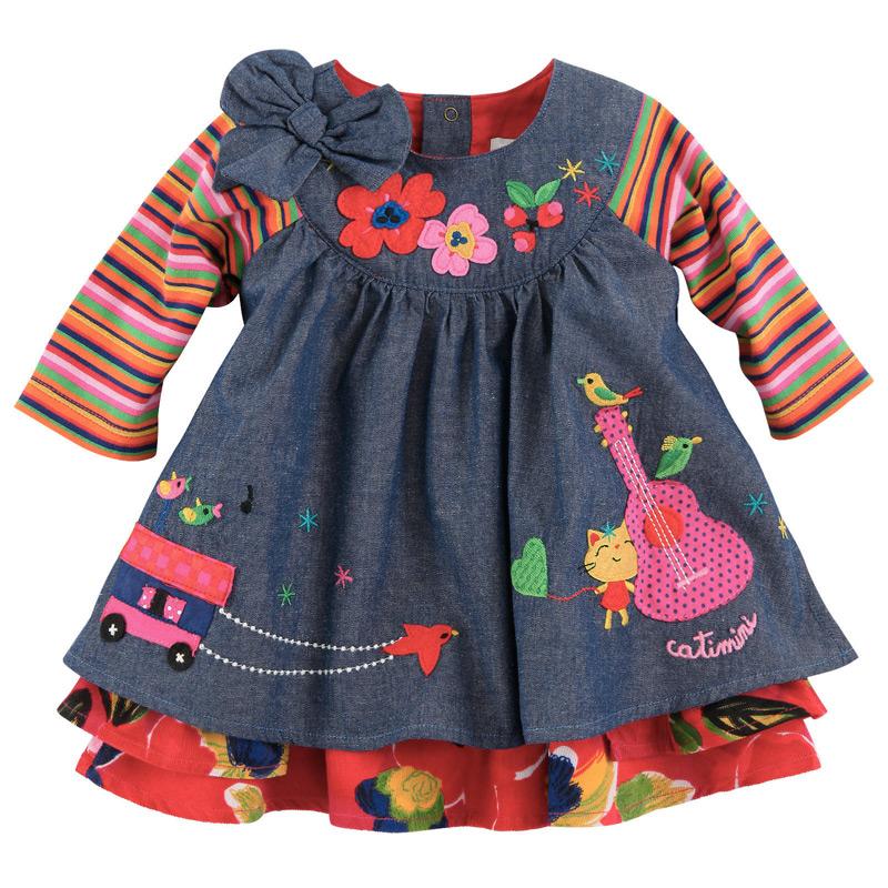 Catimini платье для девочек в интернет магазине детской одежды Kidslove.me